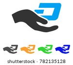 hand offer dash icon. vector... | Shutterstock .eps vector #782135128