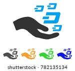 hand offer dash symbols icon.... | Shutterstock .eps vector #782135134