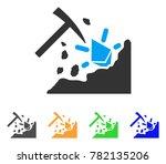 ethereum mining hammer icon.... | Shutterstock .eps vector #782135206