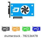 dash video gpu card icon.... | Shutterstock .eps vector #782136478