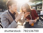 young couple lovers outdoor... | Shutterstock . vector #782136700