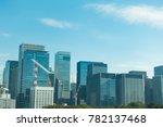 office buildings in tokyo japan ... | Shutterstock . vector #782137468
