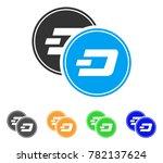 dash coins icon. vector... | Shutterstock .eps vector #782137624