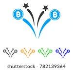 bitcoin fireworks icon. vector...   Shutterstock .eps vector #782139364