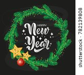 happy new year text design with ...   Shutterstock .eps vector #782139808