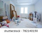 apartment repair wall repair... | Shutterstock . vector #782140150