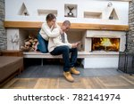 couple enjoiying a weekend... | Shutterstock . vector #782141974