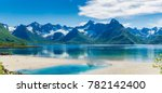 Panorama Of Fjord   Lake And...