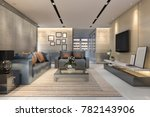 3d rendering luxury and modern... | Shutterstock . vector #782143906