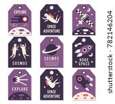 space theme cards. vector... | Shutterstock .eps vector #782146204