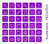 purple most used webdesign... | Shutterstock .eps vector #782147014