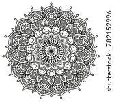 black and white mandala vector... | Shutterstock .eps vector #782152996