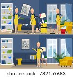 cleaning service. interior of... | Shutterstock .eps vector #782159683