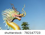 Dragon Statue In Thailand Wit...