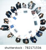 view from the top.meeting of... | Shutterstock . vector #782171536