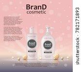 3d realistic cosmetic bottle...   Shutterstock .eps vector #782171893