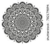 black and white mandala vector... | Shutterstock .eps vector #782179894