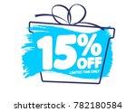 sale tag 15  off  banner design ... | Shutterstock .eps vector #782180584