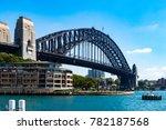 harbour bridge in darling... | Shutterstock . vector #782187568