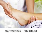 foot massage in the spa salon... | Shutterstock . vector #78218863