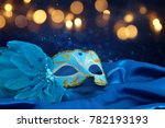 image of elegant blue and gold... | Shutterstock . vector #782193193