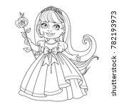 cute little princess with long... | Shutterstock .eps vector #782193973