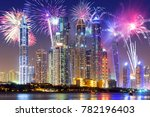new year fireworks display in... | Shutterstock . vector #782196403
