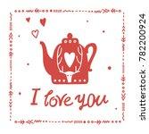 """vector lettering """"i love you""""...   Shutterstock .eps vector #782200924"""