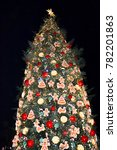 new year and christmas tree... | Shutterstock . vector #782201863