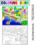children raster fairy city with ... | Shutterstock . vector #782203810