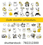 cute doodle collection. simple... | Shutterstock .eps vector #782212300