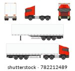 big commercial semi truck with... | Shutterstock .eps vector #782212489