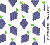 seamless pattern with grapes in ...   Shutterstock .eps vector #782213494