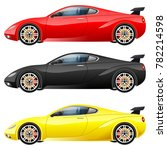 super car design concept.... | Shutterstock .eps vector #782214598