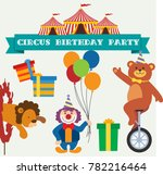 happy birthday circus party.... | Shutterstock .eps vector #782216464