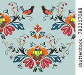 birds flower and plants... | Shutterstock . vector #782217088
