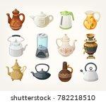 set of different kinds of tea... | Shutterstock .eps vector #782218510