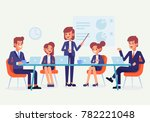 teamwork. meeting business... | Shutterstock .eps vector #782221048