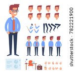 business man character for your ... | Shutterstock .eps vector #782221900