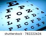 eye chart optometry concept | Shutterstock . vector #782222626
