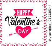 happy valentine's day | Shutterstock .eps vector #782225344