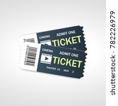 two cinema vector tickets... | Shutterstock .eps vector #782226979