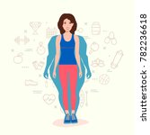 woman body transformation... | Shutterstock .eps vector #782236618