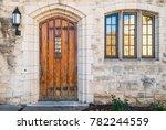 Wooden Door And Window On The...