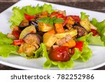 stewed vegetables with tomato ... | Shutterstock . vector #782252986