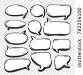 hand drawn set of speech... | Shutterstock .eps vector #782256100