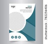 vector abstract brochure flyer...   Shutterstock .eps vector #782256406