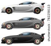 super car design concept.... | Shutterstock . vector #782258113