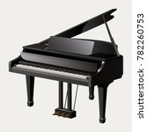 grand piano isolated on white... | Shutterstock . vector #782260753