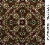 seamless raster symmetrical... | Shutterstock . vector #782261278